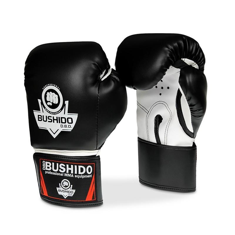 Sparingowe rękawice do kickboxingu i boksu marki Bushido