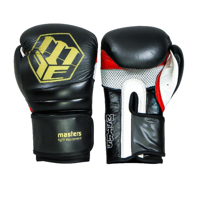 Rękawice bokserskie masters - treningowe 12 oz - czarne