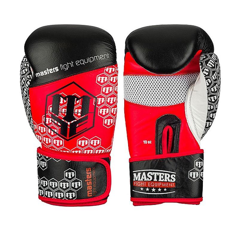 Rękawice bokserskie masters ze skóry naturalnej 10 oz